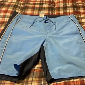 Older swim trunks. The lining is out